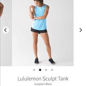 Lululemon Sculpt Tank in Caspian Blue